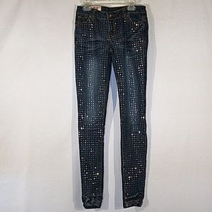 1st Kiss Sequinned Skinny Jeans